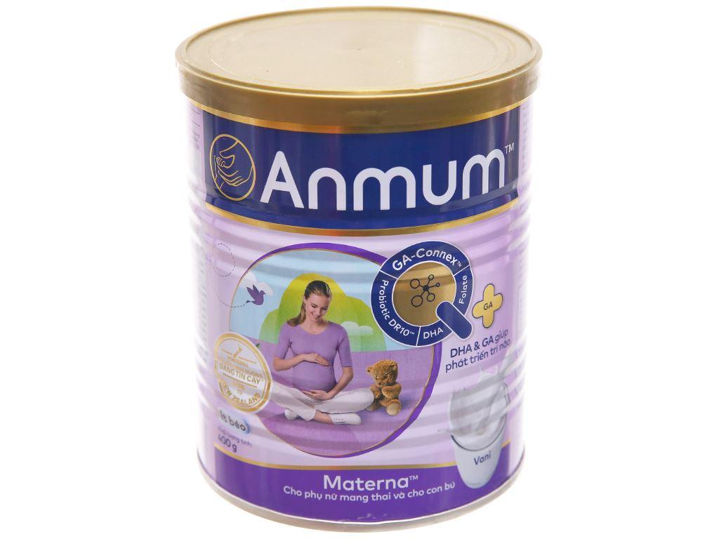 Sữa bột Anmum Materna vani ít béo lon 400g 1