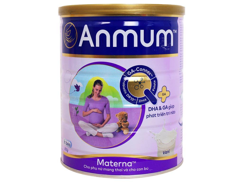 Sữa bột Anmum Materna vani ít béo lon 800g 1
