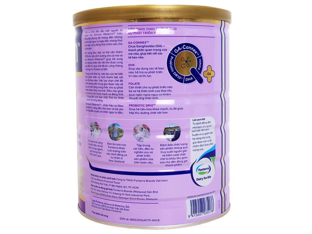 Sữa bột Anmum Materna vani ít béo lon 800g 3