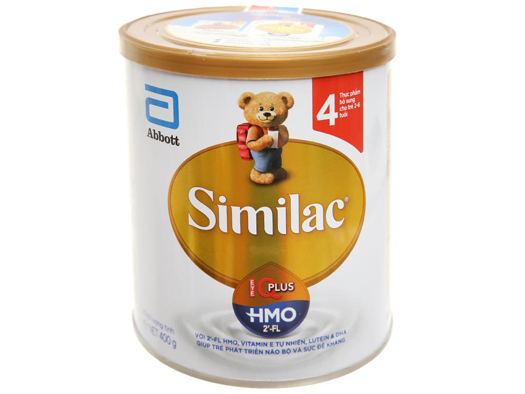 Sữa bột Abbott Similac Eye-Q 4 Plus (HMO) vani lon 400g (2 - 6 tuổi) 1