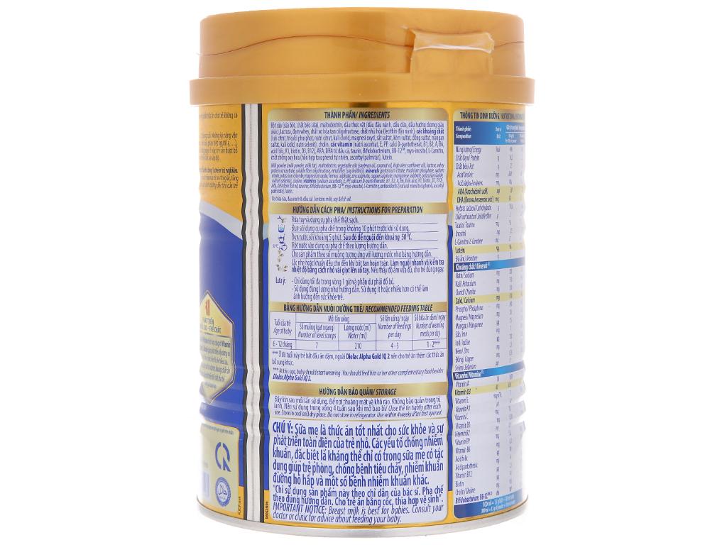 Sữa bột Dielac Alpha Gold IQ 2 lon 400g (6 - 12 tháng) 3