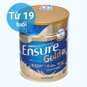 Sữa bột Ensure Gold lúa mạch ít ngọt hộp 850g