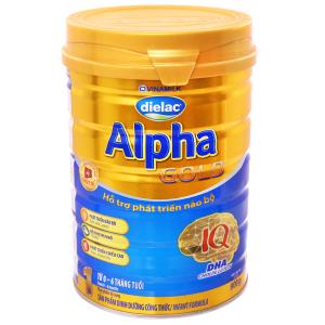 Sữa bột Dielac Alpha Gold 1 lon 900g (lỗi bao bì)
