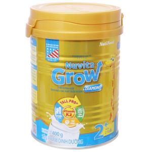 Sữa bột NutiFood Nuvita Grow Diamond 2+ lon 400g (trên 2 tuổi)