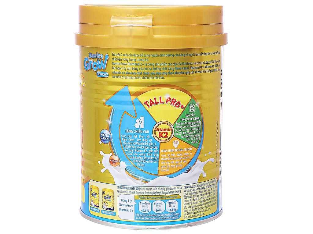 Sữa bột NutiFood Nuvita Grow Diamond 2+ lon 400g (trên 2 tuổi) 2