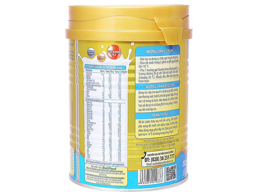 Sữa bột NutiFood Nuvita Grow Diamond 2+ lon 400g (trên 2 tuổi) 3