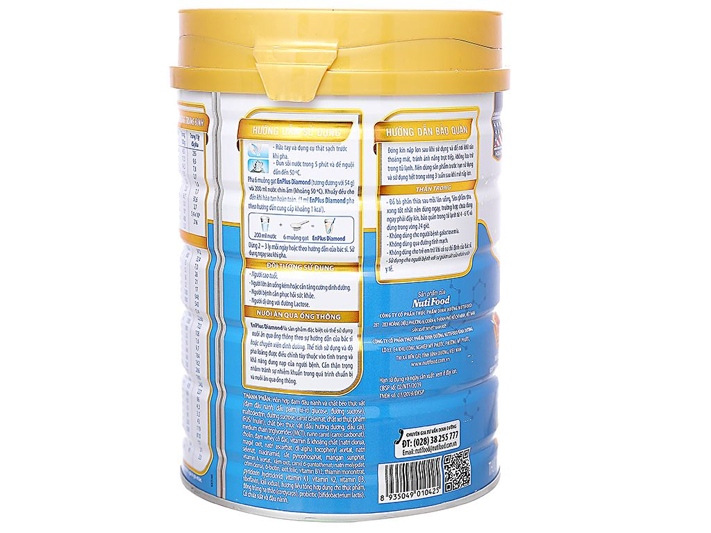 Sữa bột NutiFood EnPlus Diamond lon 900g (cho người cao tuổi) 2