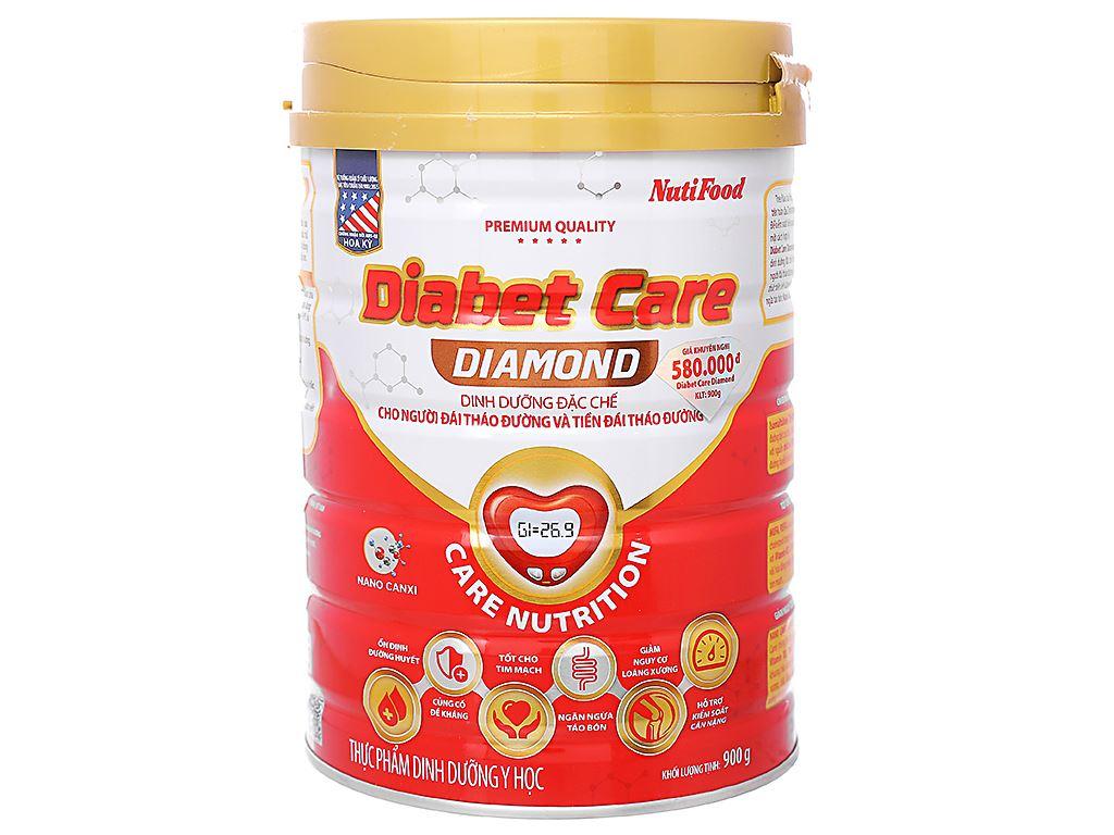 Sữa bột NutiFood Diabet Care Diamond lon 900g (cho người bệnh tiểu đường) 1
