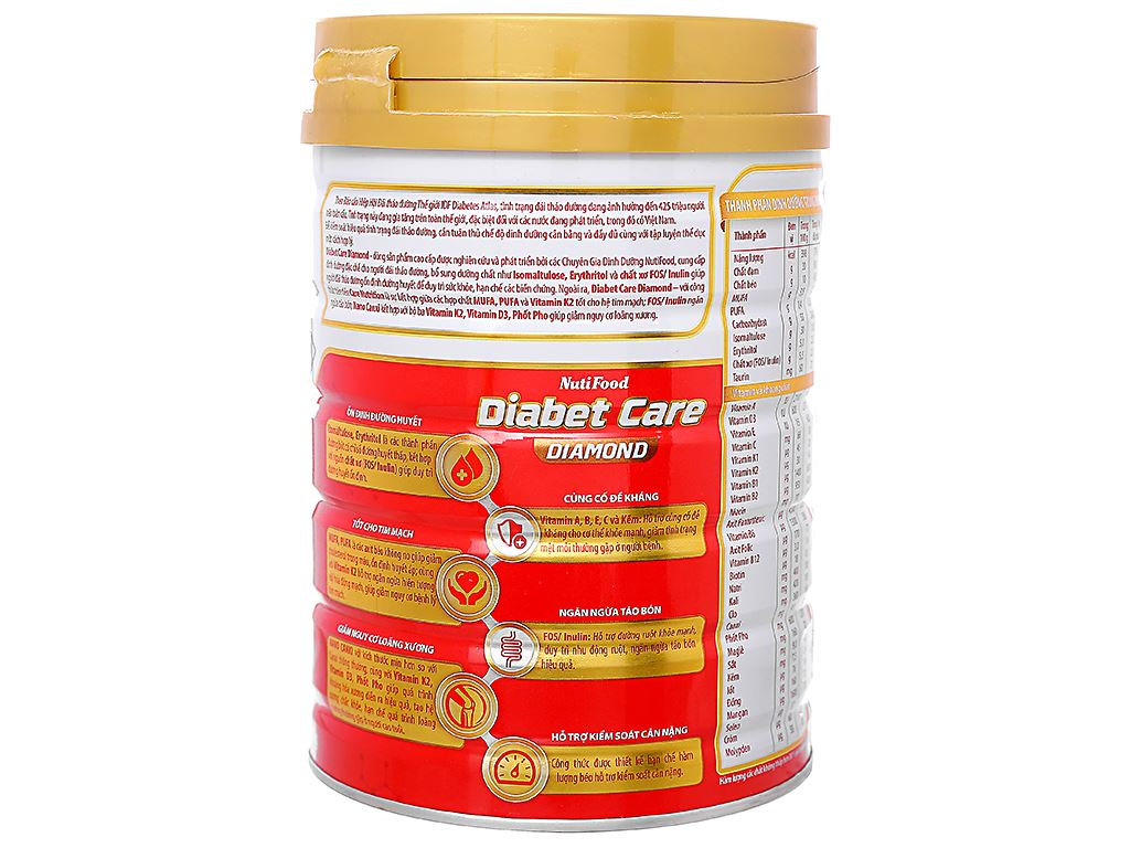 Sữa bột NutiFood Diabet Care Diamond lon 900g (cho người bệnh tiểu đường) 3
