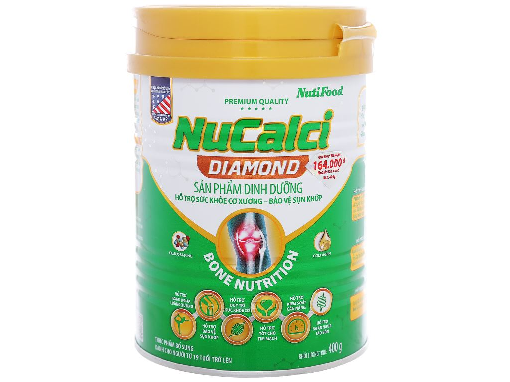 Sữa bột NutiFood Nucalci Diamond lon 400g (từ 19 tuổi) 1