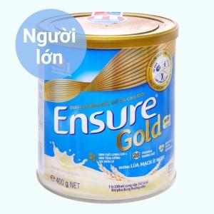 Sữa bột Ensure Gold lúa mạch ít ngọt lon 400g
