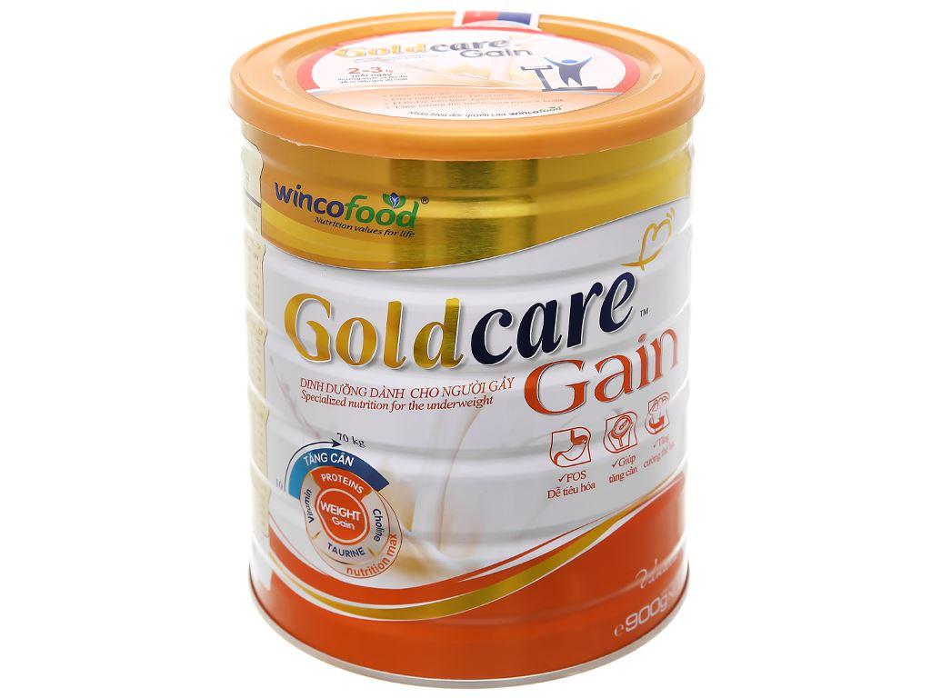 Sữa bột Wincofood GoldCare Gain hương vani lon 900g (dành cho người gầy) 9