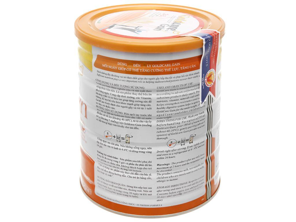 Sữa bột Wincofood GoldCare Gain hương vani lon 900g (dành cho người gầy) 10