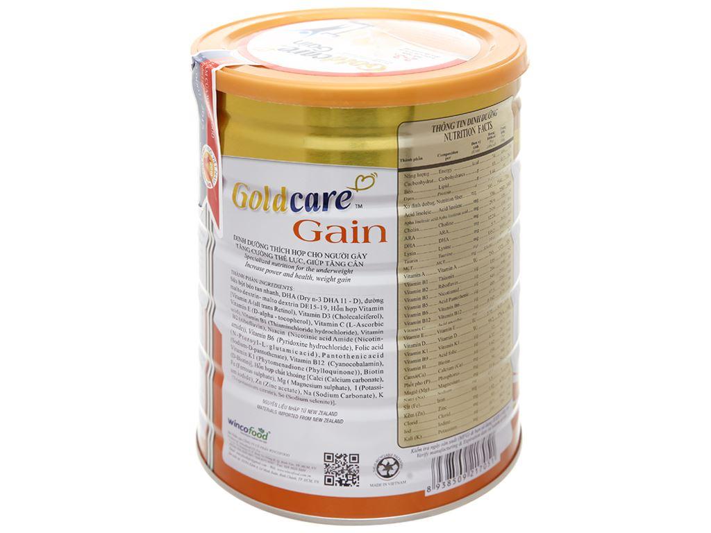 Sữa bột Wincofood GoldCare Gain hương vani lon 900g (dành cho người gầy) 11