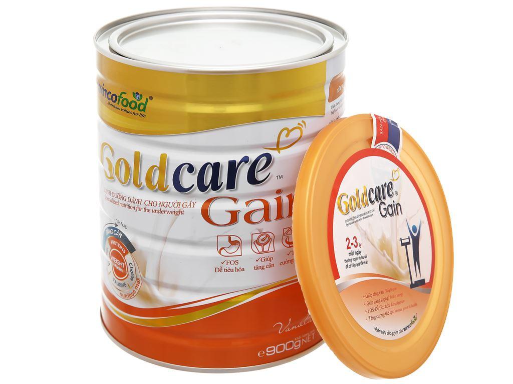 Sữa bột Wincofood GoldCare Gain hương vani lon 900g (dành cho người gầy) 15