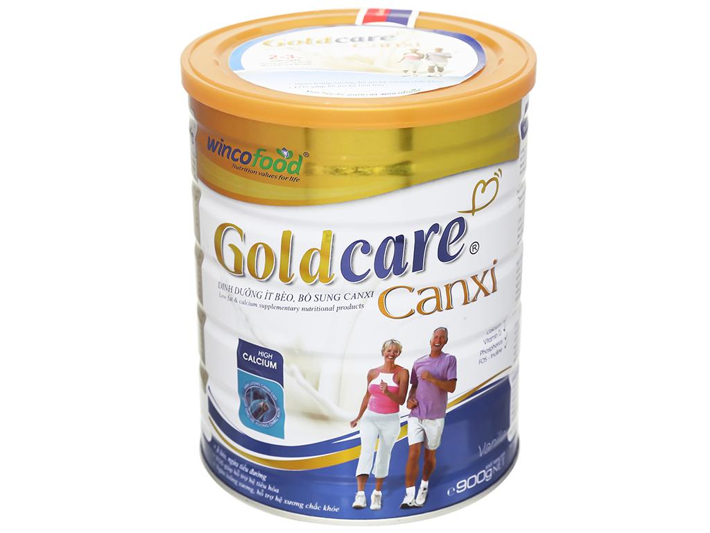 Sữa bột Wincofood GoldCare Canxi hương vani lon 900g 2