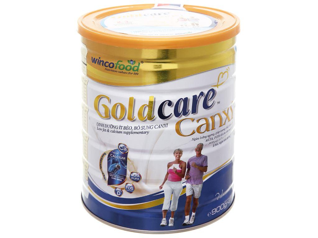 Sữa bột Wincofood GoldCare Canxi hương vani lon 900g 9