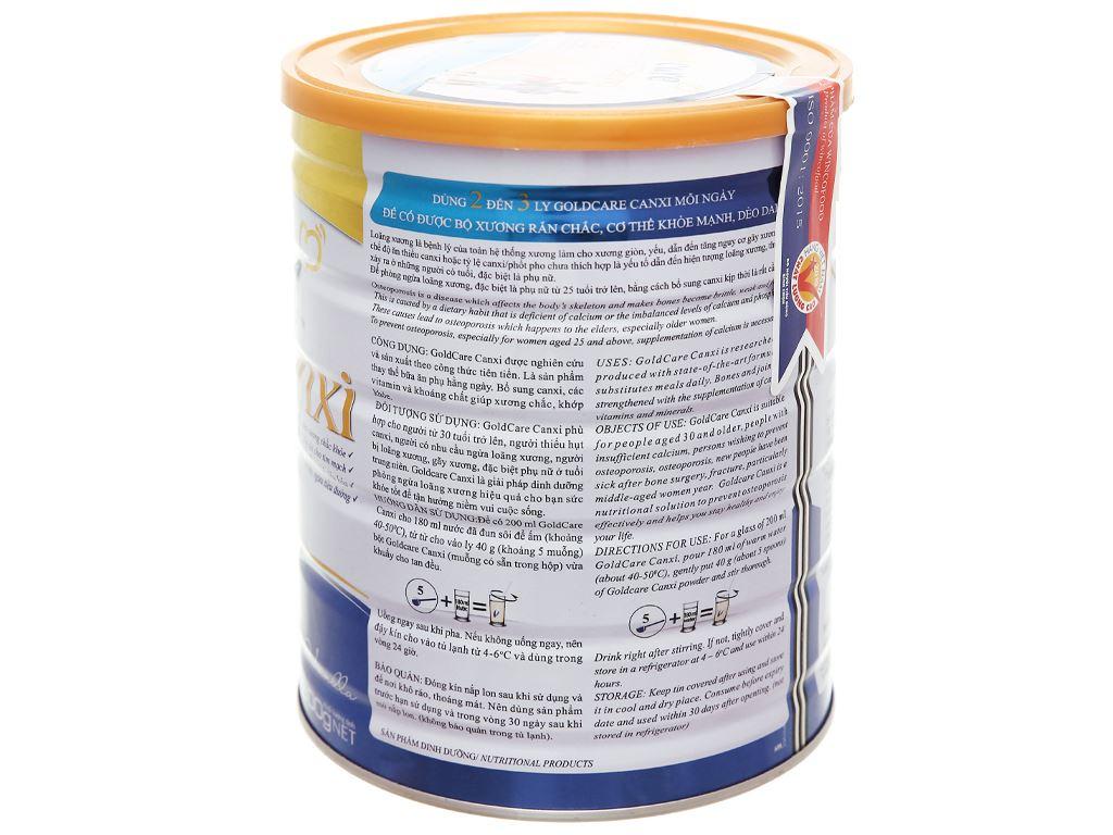 Sữa bột Wincofood GoldCare Canxi hương vani lon 900g 10