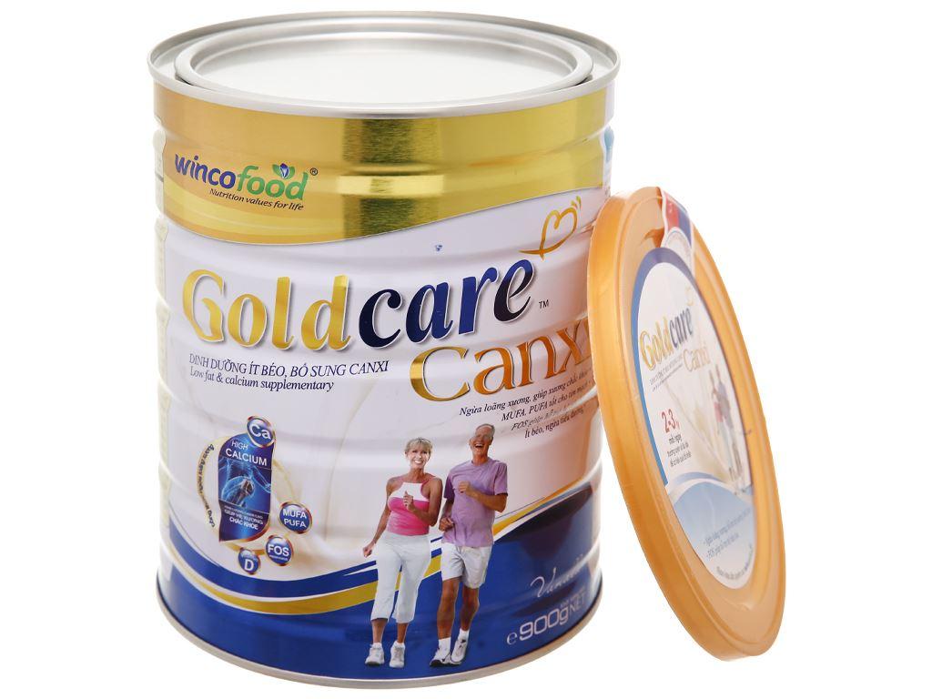 Sữa bột Wincofood GoldCare Canxi hương vani lon 900g 15