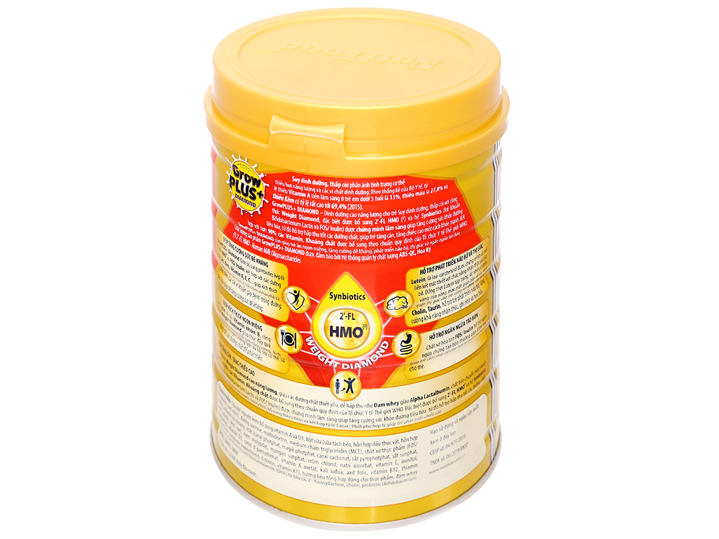 Sữa bột NutiFood Grow Plus+ Diamond 2+ lon 850g (trên 2 tuổi) 2
