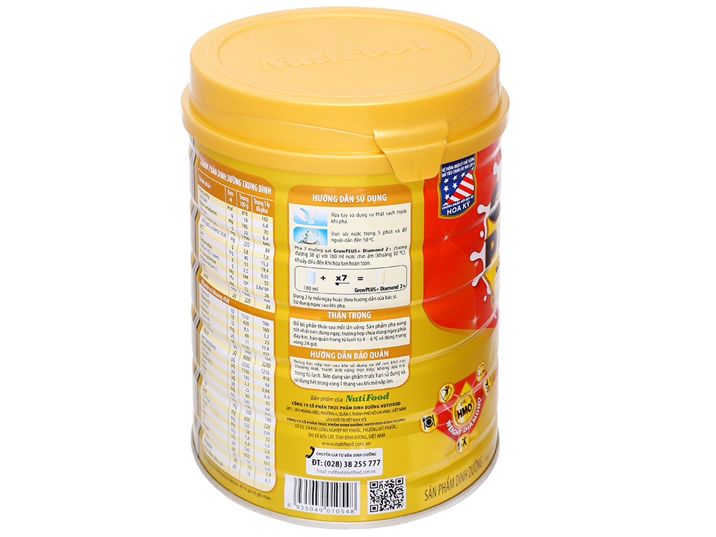 Sữa bột NutiFood Grow Plus+ Diamond 2+ lon 850g (trên 2 tuổi) 4