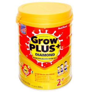 Sữa bột NutiFood Grow Plus+ Diamond 2+ lon 850g (trên 2 tuổi)