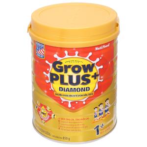 Sữa bột NutiFood Grow Plus+ Diamond 1+ lon 850g (1 - 2 tuổi)