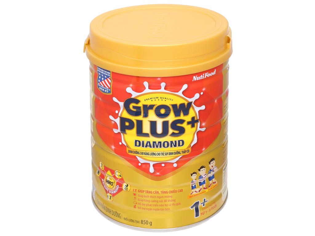 Sữa bột NutiFood Grow Plus+ Diamond 1+ lon 850g (1 - 2 tuổi) 1