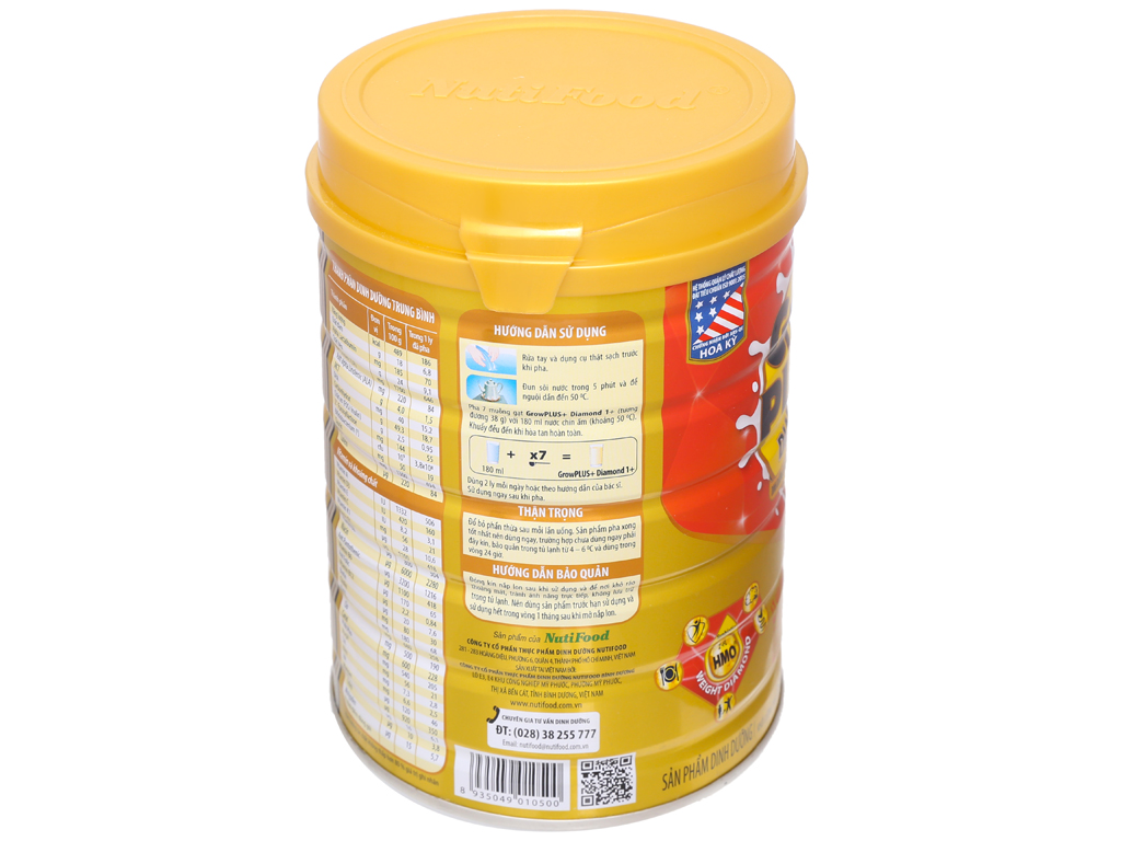 Sữa bột NutiFood Grow Plus+ Diamond 1+ lon 850g (1 - 2 tuổi) 3