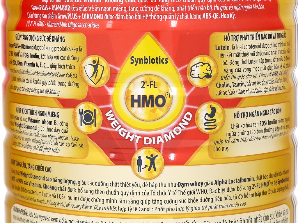 Sữa bột NutiFood Grow Plus+ Diamond 1+ lon 850g (1 - 2 tuổi) 5