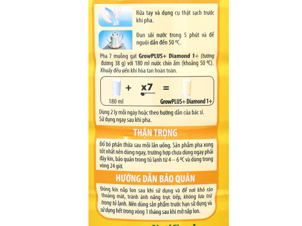Sữa bột NutiFood Grow Plus+ Diamond 1+ lon 850g (1 - 2 tuổi) 8