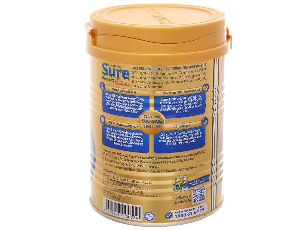 Sữa bột Vinamilk Sure Prevent Gold lon 400g 2