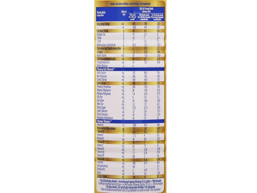 Sữa bột Vinamilk Sure Prevent Gold lon 400g 7