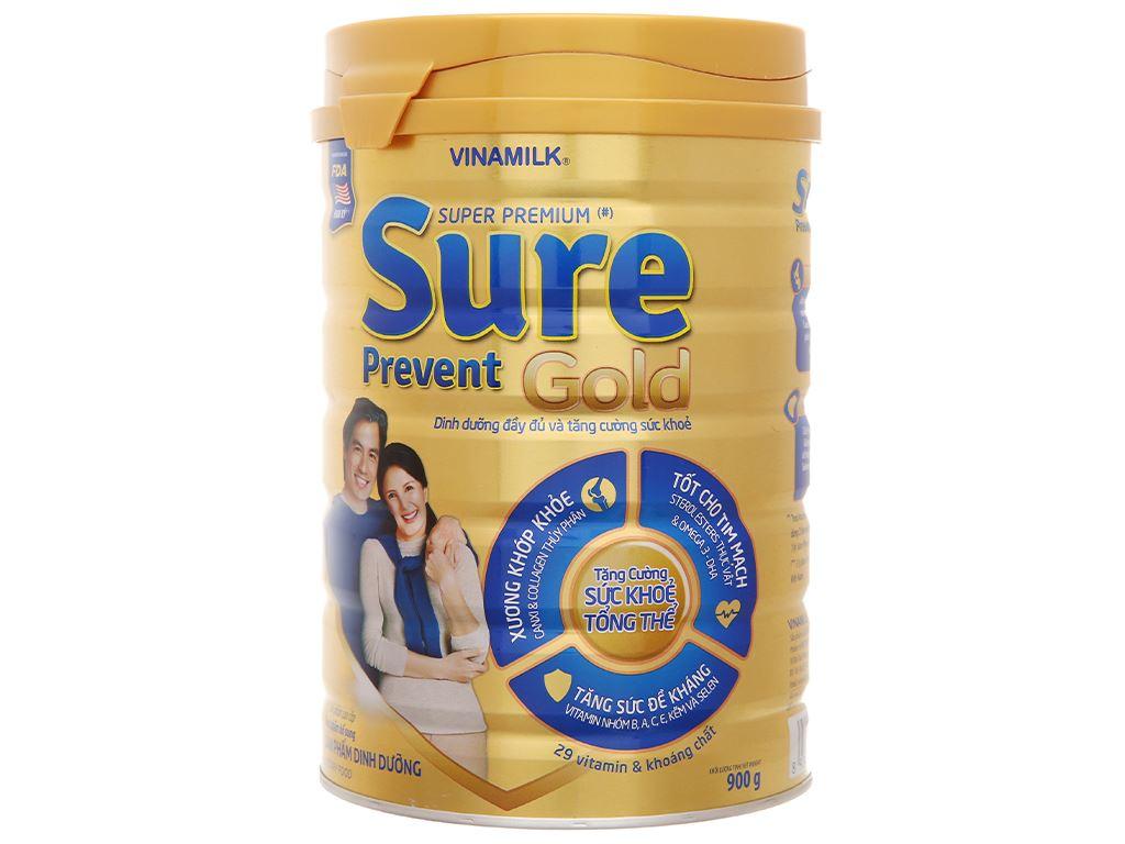 Sữa bột Vinamilk Sure Prevent Gold lon 900g 1