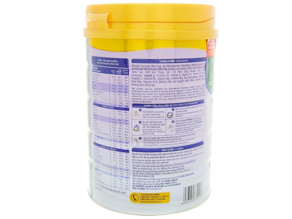 Sữa bột Nutricare MetaMom hương cam lon 900g 3