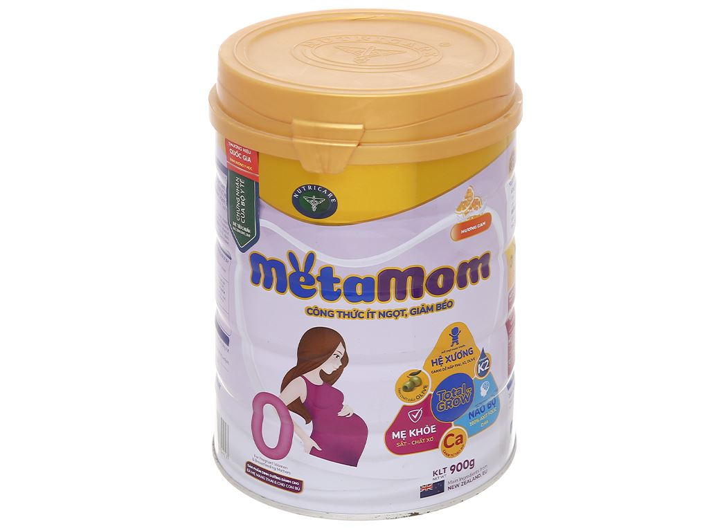 Sữa bột Nutricare MetaMom hương cam lon 900g 1