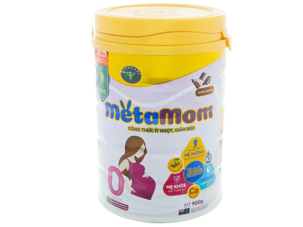 Sữa bột Nutricare MetaMom hương socola lon 900g 1