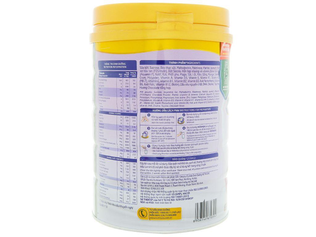 Sữa bột Nutricare MetaMom hương socola lon 900g 3