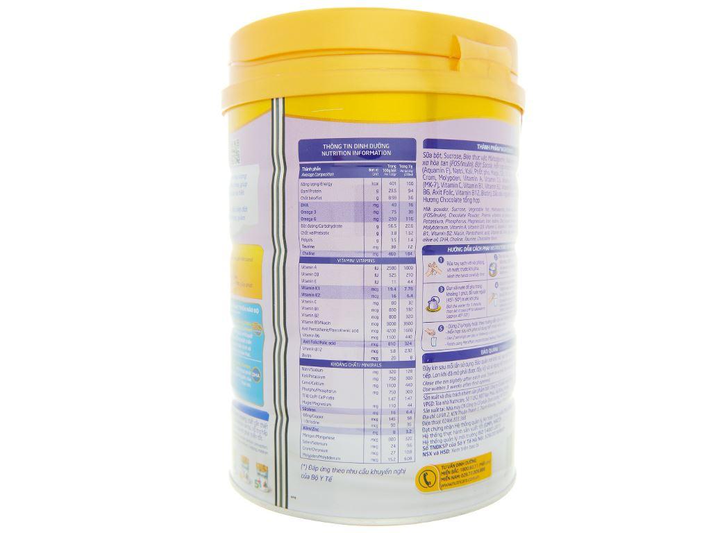 Sữa bột Nutricare MetaMom hương socola lon 900g 5