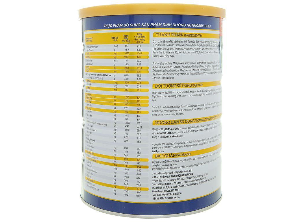 Sữa bột Nutricare Gold lon 900g 3