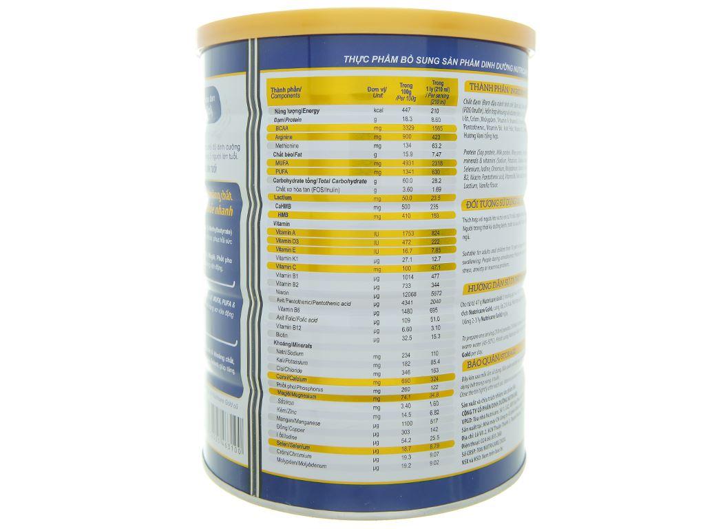 Sữa bột Nutricare Gold lon 900g 4