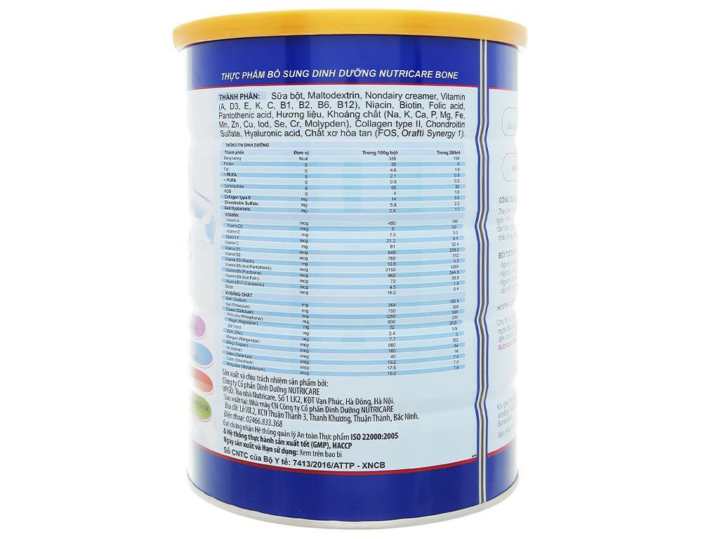 Sữa bột Nutricare Bone lon 900g 3