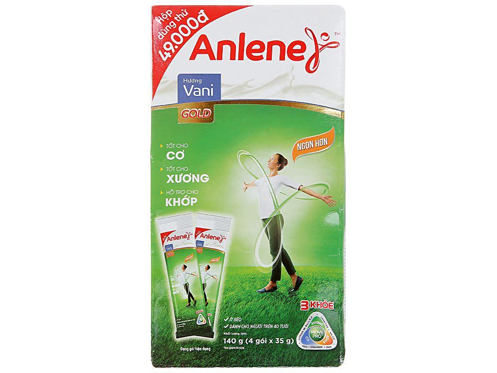 Sữa bột Anlene Gold MovePro hương vani gold hộp 140g (trên 40 tuổi) 3