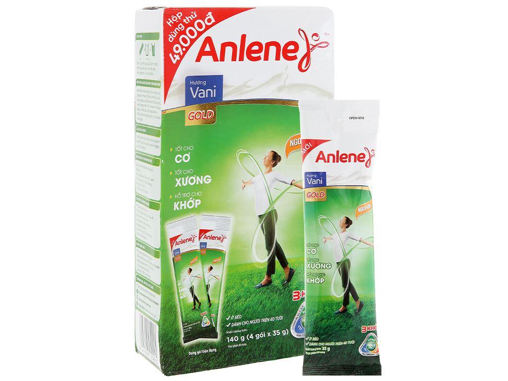 Sữa bột Anlene Gold MovePro hương vani gold hộp 140g (trên 40 tuổi) 8