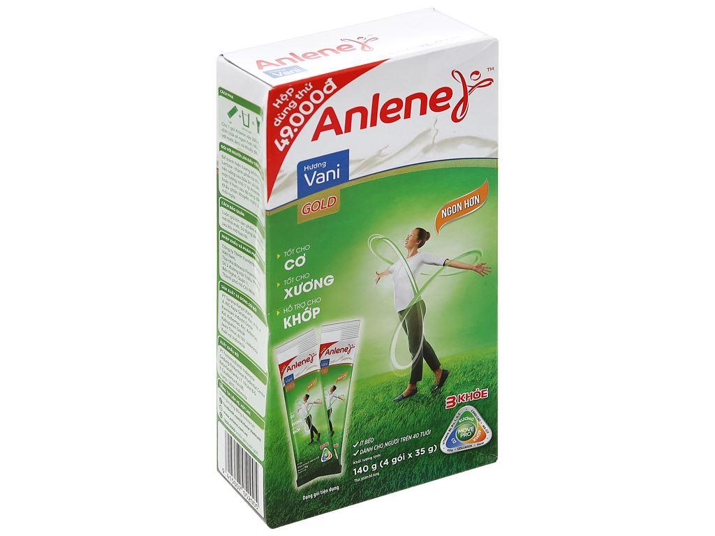 Sữa bột Anlene Gold MovePro hương vani gold hộp 140g (trên 40 tuổi) 1