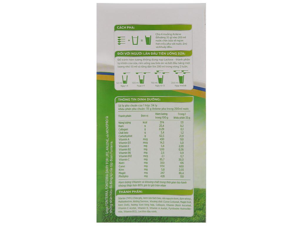 Sữa bột Anlene Gold MovePro hương vani hộp 1.2kg (trên 40 tuổi) 3