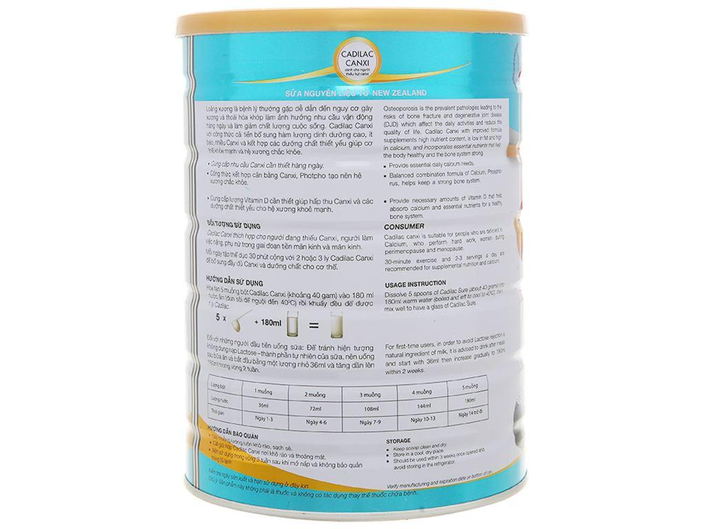 Sữa bột Cadilac Canxi lon 900g 3