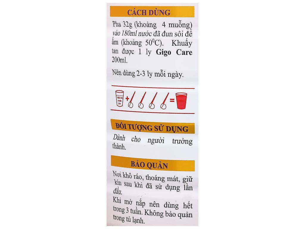 Sữa bột Gigo Care lon 900g 7