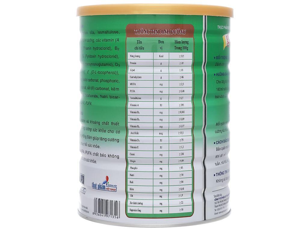 Sữa bột Gigo Sure hồng sâm lon 900g 2
