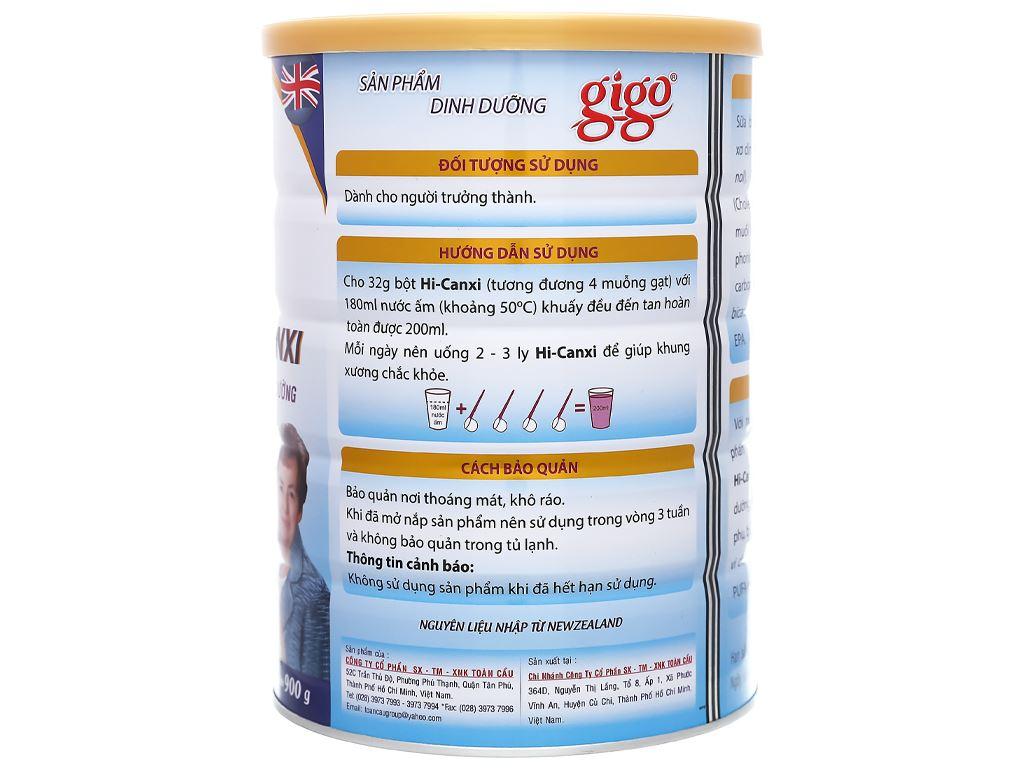 Sữa bột Gigo Hi - canxi lon 900g 2